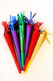Multicolored partijhoornen Stock Fotografie