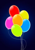 Multicolored Party Balloons Royalty Free Stock Photos