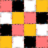 Multicolored patch pattern collage in a chessboard order.Abstrac Royalty Free Stock Photo