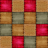 Multicolored patch texture collage in a chessboard order. Stock Photography