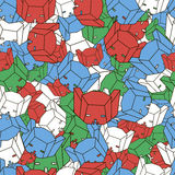 Multicolored patroon van het hoofd van de robot Royalty-vrije Stock Afbeelding