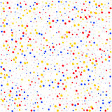 Multicolored pattern balls on white background. Vector illustration. Shiny backdrop. Art deco style. Polka dots, confetti Royalty Free Stock Images