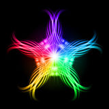 Multicolored pattern on the black background Royalty Free Stock Images