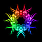 Multicolored pattern on the black background Stock Photo