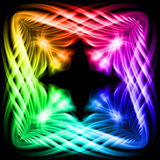Multicolored pattern on the black background Royalty Free Stock Image