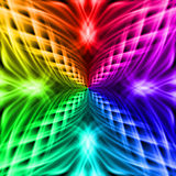 Multicolored pattern on the black background Stock Image