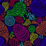 The multicolored pattern on a dark background. Royalty Free Stock Images