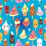 Multicolored pattern funny ice cream Royalty Free Stock Photo