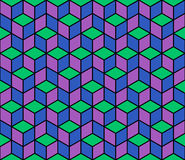 Multicolored pattern of hexagons. Stock Photos