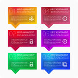 Multicolored pattern infographics. Info graphic design template and marketing icons, Business concept with 6 options, steps or processes. Can be used for Stock Images