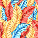 Multicolored pattern of leaves Royalty Free Stock Photo