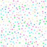 Multicolored pattern shapes on white background. Multicolored pattern geometric shapes on white background. Vector illustration. Shiny backdrop. Art deco style Stock Photos