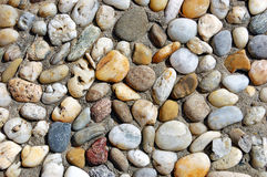 Multicolored Pebbles On A Beach Royalty Free Stock Images