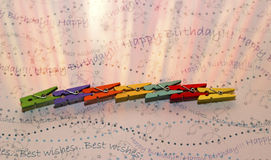 Multicolored pegs Stock Image