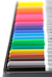 Multicolored Pencil, Arrangement in Box Royalty Free Stock Photo