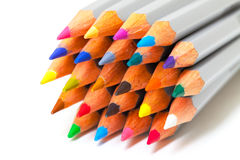 Multicolored Pencil, Arrangement in Bunch Royalty Free Stock Photos