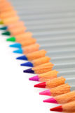 Multicolored Pencil, Arrangement in Row Stock Photos