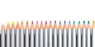 Multicolored Pencil, Arrangement in Row Royalty Free Stock Image