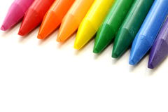 Multicolored pencil crayons Stock Photography