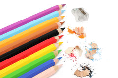 Multicolored pencils Stock Images