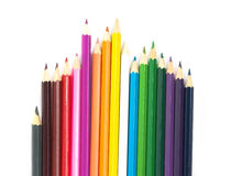 Multicolored pencils. Isolated on the white Royalty Free Stock Photography