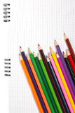 Multicolored pencils. Isolated on the white Stock Photography