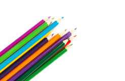 Multicolored pencils. Isolated on the white Royalty Free Stock Photo