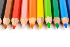 Multicolored pencils Stock Image