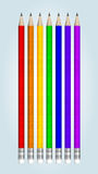 Multicolored  pencils Royalty Free Stock Images