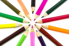 Multicolored pencils... Stock Image