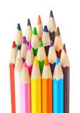 Multicolored pencils Stock Photo