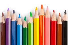 Multicolored pencils Stock Photography