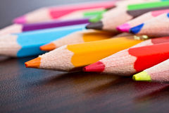 Multicolored pencils close up Stock Photography