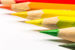Multicolored pencils close-up Royalty Free Stock Photos