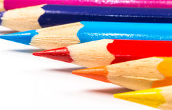 Multicolored pencils close-up Stock Photo