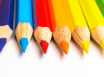 Multicolored pencils close-up Stock Photography