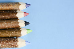 Multicolored pencils for drawing Royalty Free Stock Images
