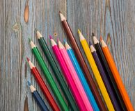 Pencils. Drawing with a pencil. Learning to draw. Stock Photos