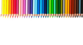 Multicolored pencils isolated Royalty Free Stock Photo