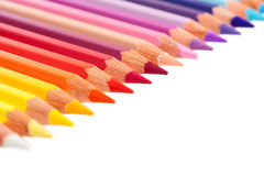 Multicolored pencils isolated Royalty Free Stock Photography
