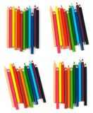 Multicolored pencils isolated on white background Stock Images