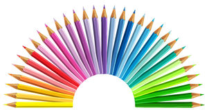 Multicolored pencils isolated on white background.  stock photography
