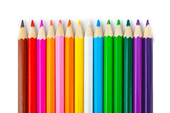Multicolored pencils Stock Photos