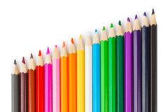 Multicolored pencils Royalty Free Stock Photo
