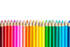 Multicolored pencils Stock Photo
