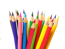 Multicolored pencils isolated on white background Royalty Free Stock Photos