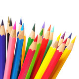 Multicolored pencils isolated on white background Royalty Free Stock Photography