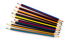 Multicolored pencils isolated on white background Royalty Free Stock Images