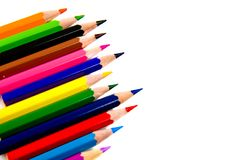 Multicolored pencils. Multicolored pencils isolated on white background Royalty Free Stock Photography