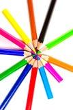 Multicolored pencils. Multicolored pencils isolated on white background Royalty Free Stock Photo